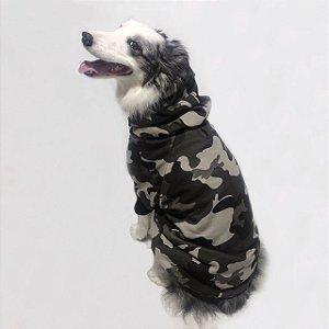 Moletom para Cachorros Camuflado Cinza