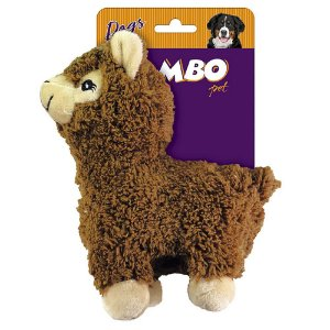 Brinquedo para Cachorros Pelúcia Lhama Marrom