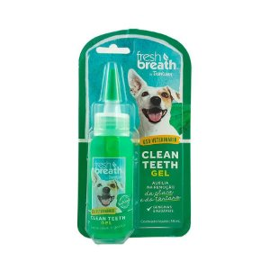 Gel Dental para Cachorros e Gatos Fresh Breath Clean Teeth Menta