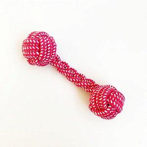 Brinquedo para Cachorros Rope Bone Rosa