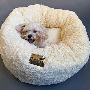 Cama de Pelúcia para Pets | Nuvem Super Macia Off-White
