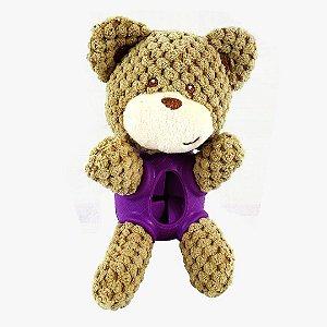 Brinquedo com Porta Petisco para Cachorros | Urso