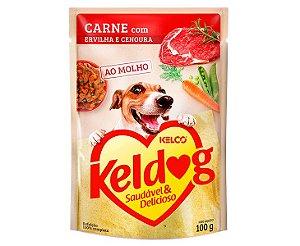 Sachê Úmido para Cachorros | Keldog Carne com Ervilha e Cenoura