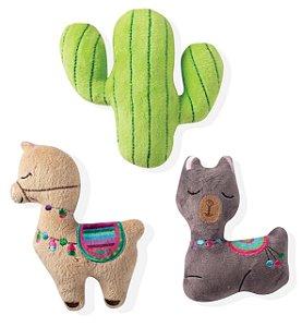 Brinquedo para Cachorros | Pelúcia Lhama Cactus