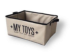 Cesto Organizador para Brinquedos | My Toys Bege