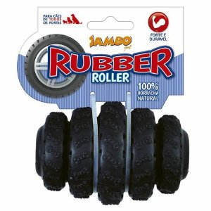Brinquedo para Cachorros Rubber Roller Preto