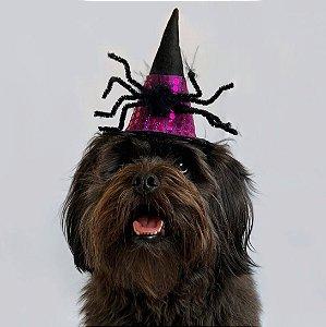 Fantasia para Cachorros e Gatos | Chapéu de Bruxa | Halloween