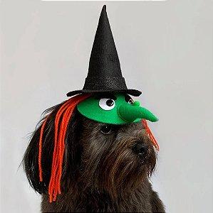 Fantasia para Cachorros e Gatos Bruxa Verde