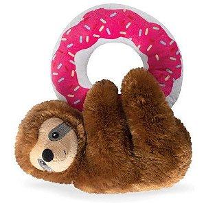 Brinquedo para Cachorros Pelúcia Sloth Donut