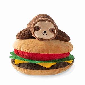 Brinquedo para Cachorros Pelúcia Sloth on a Hamburger