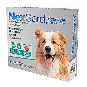 Antipulgas e Carrapatos NexGard Cães de 10,1 a 25kg