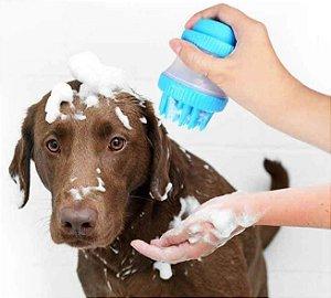 Escova de Silicone para Banho Azul