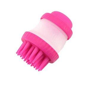 Escova de Silicone para Banho Rosa