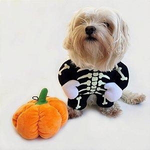 Fantasia para Cachorros Esqueleto Brilhante