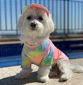 Camiseta Pet | Tie Dye com Proteção UV