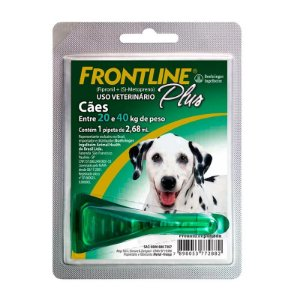 Antipulgas e Carrapatos Frontline Plus | Cães de 20 a 40kg