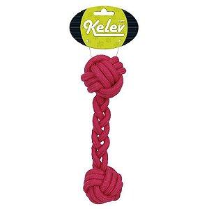 Brinquedo para Cachorro Corda Osso Rosa Kelev