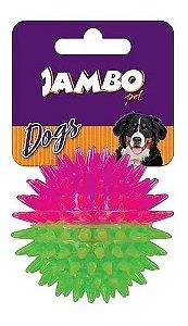 Brinquedo para Cachorro Bola com Espinho Dual Color Rosa Com Verde