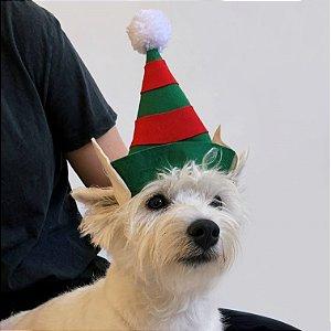 Fantasia de Natal para Cachorros e Gatos Gorro de Duende