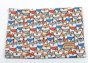Jogo Americano Doguinhos Azul para Cachorros e Gatos