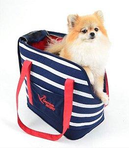 Bolsa de Passeio para Cachorros e Gatos Marinheiro