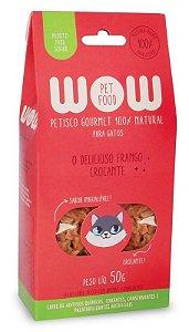 Petisco Natural para Gatos O Delicioso Frango Crocante 50g