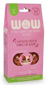 Petisco Natural para Gatos O Fantástico Peito de Frango com Alecrim 50g