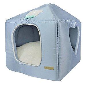 Casinha para Cachorros e Gatos Coração Candy Azul