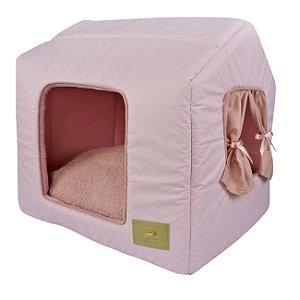 Casinha para Cachorros e Gatos Basic Rosa