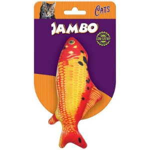 Brinquedo para Gatos Pelúcia Peixe Carpa com Catnip