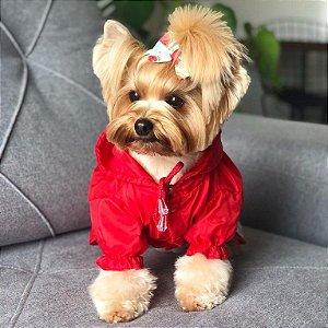 Capa de Chuva para Cachorros Vermelha