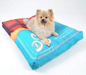Almofadão para Cachorros Chocolate Azul
