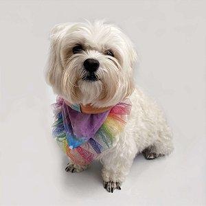 Bandana para Cachorros e Gatos Tie Dye