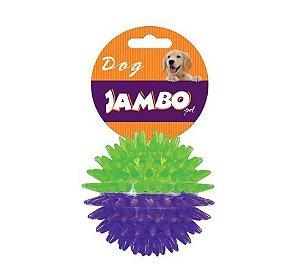 Brinquedo para Cachorro Bola com Espinho Dual Color Roxo Com Verde