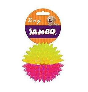 Brinquedo para Cachorro Bola com Espinho Dual Color Rosa Com Amarelo