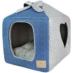Casinha para Cachorros e Gatos Coração Encantê Estrela Azul