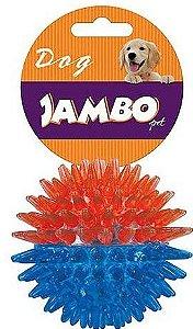 Brinquedo para Cachorro Bola com Espinho Dual Color Azul e Laranja