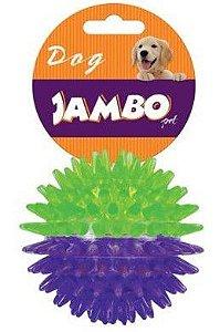 Brinquedo para Cachorro Bola com Espinho Dual Color Roxo e Verde