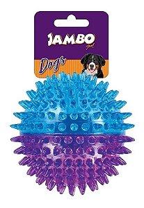 Brinquedo para Cachorro Bola com Espinho Dual Color Roxo e Azul