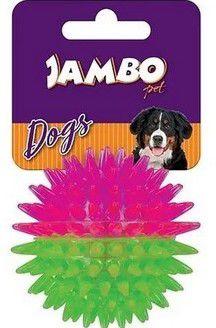 Brinquedo para Cachorro Bola com Espinho Dual Color Rosa e Verde