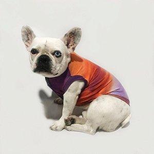 Regata Pet com Proteção UV Tie Dye Laranja