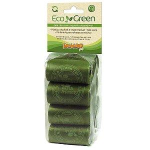Refil de Saquinhos para Cata Caca Eco Green com 8 Rolos