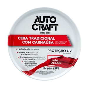 Cera Automotiva Tradicional Pasta C/ Carnaúba Autocraft 200g