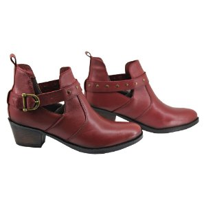 Bota Coturno Texas Bordo