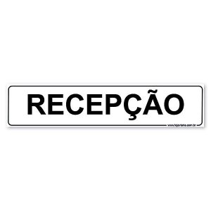 Placa Recepção 30x6,5 cm ACM 3 mm