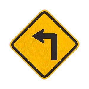 Placa Curva acentuada à esquerda A-1a
