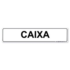 Placa Caixa - 30x6,5 cm ACM 3 mm