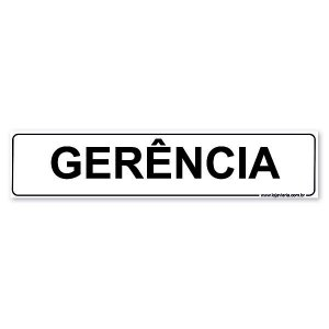 Placa Gerência 30x6,5 cm ACM 3 mm
