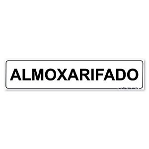 Placa Almoxarifado 30x6,5 cm ACM 3 mm