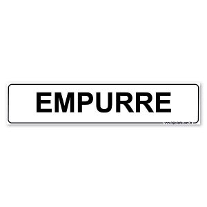 Placa Empurre 30x6,5 cm ACM 3 mm